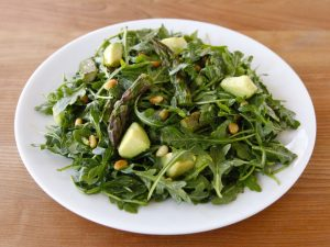 Roasted Asparagus Avocado Rocket Salad - Awakening Fertility and supporting healthy pregnancy snacking