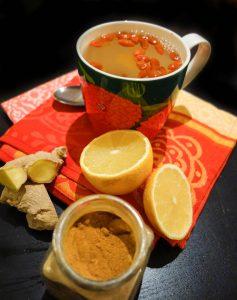 Goji ginger and lemon tea
