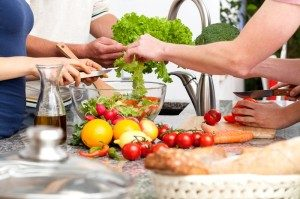Eating healthy together - take your QiYoga and awakening fertility detox retreat home